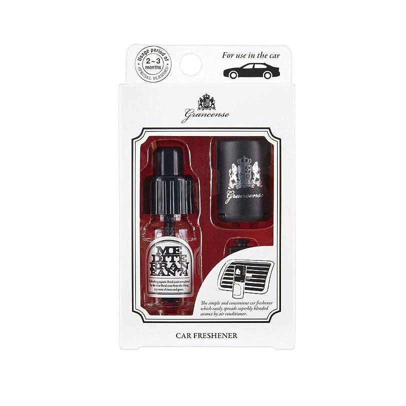ウィスキー隙間粘着性グランセンス カーフレッシュナー メディテレーニアン 10mL (車用芳香剤 カーディフューザー 2-3ヶ月 日本製)