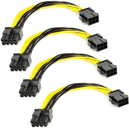 6 Pin Pcie Auf 8 Pin Pcie Adapter Stromkabel 18 Cm 4 Stück Gewerbe Industrie Wissenschaft