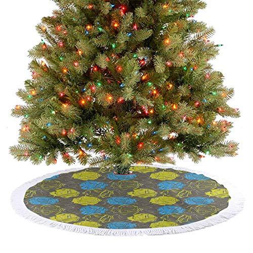 Homesonne Ramo romántico de pétalos de rosa con inspiración vintage, decoración de fiesta de Navidad hace que tu árbol de Navidad sea más hermoso azul, amarillo, verde, gris, 77 cm