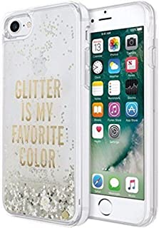 Kate Spade New York Clear Liquid Glitter Case for iPhone 8 & iPhone 7 - Glitter Is My Favorite Color (Gold)
