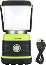 Consciot AOL002-US-V1 1000 Lumen Super Bright Lantern,Equal to 75W Halogen Bulbs Square Dimmable LED Camping Light, 4 Mode...