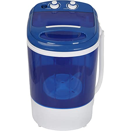 ZENY Portable Mini Laundry Washing Machine Small Semi-Automatic Compact Washer Spin Cycle Basket for Apartment, RV, Traveling, Single Translucent Tub