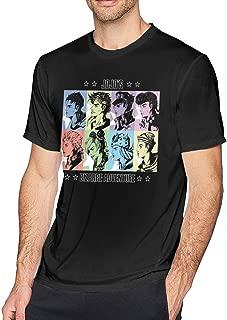 Mens JoJo's Bizarre Adventure T-Shirt Men's Everyday Cotton Short Sleeve T-Shirt Adult Crew Neck Fashion Tees