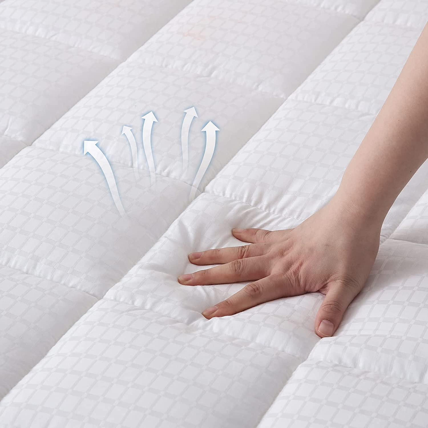 SNUGEESE HOME Full Size Max 46% OFF Mattress Topper Pillowtop F Product Pad