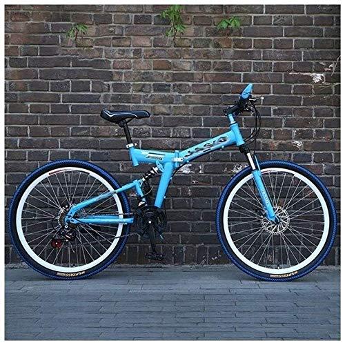 Qinmo 26-Zoll-Berg Querfeldein Fahrrad Erwachsene männliche und weibliche Studenten Variable Speed Bike Folding Mountain Bike Doppelscheibenbremse Stoßdämpfende Fahrrad