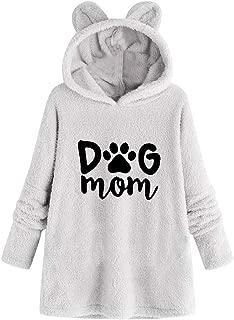 LEKODE Sweatshirt Women's Warm Printed Hoodie Long Sleeve Plush