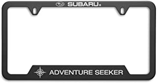 OEM Genuine Subaru Adventure Seeker License Plate Frame SOA342L163 Matte Black