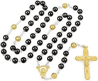 Hematite Beads Gold Tone Rosary