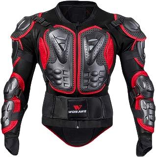 PIKAqiu33 Women/Men Motorcycle Full Body Armor Jacket Motocross Racing Spine Chest Protecto Coat