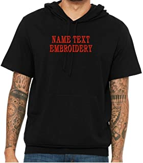 Custom Embroidery Tshirt Personalized Embroidered Short Sleeve Hoodie Tee