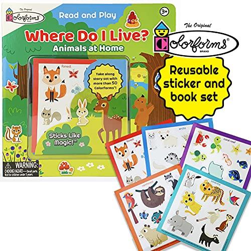 Colorforms Where Do I Live?: Animals and Their Homes (Colorforms Activity Books) (Colorforms Read and Play)