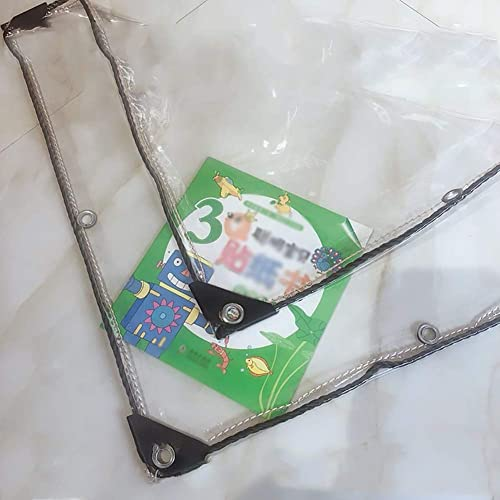 GFF Bache 99% PVC Transparent, piège d'isolation extérieur épais, Tissu pour Piscine, Restaurant Wai (Taille  2 \u0026 Times; 2m)