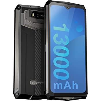 """Unlocked Rugged Smartphones, Blackview BV9100 4G LTE 13000mAh Battery Rugged Cell Phones Android 9.0 IP68 Waterproof Drop Proof, 6.3"""" Screen 4GB+64GB Octa-core Dual SIM for GSM AT&T T-Mobile (Grey)"""