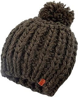 Bravetoshop Fleece Lined Headwear Hat Winter Warm Knit Baggy Slouchy Pom Pom Beanie Hat for Women