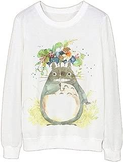 babyhealthy Women's Totoro Print Long Sleeve Shirt Sweater Pullover Sweatshirt