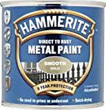 Hammerite 5084847 Direct to Rust Metal Paint - Smooth Gold Finish 250ML