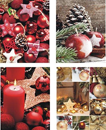 Pochettes cadeaux medium (moyen) – K & B Distribution de Noël sacs sac de Noël sacs cadeaux noël 7304 (48 pièces)