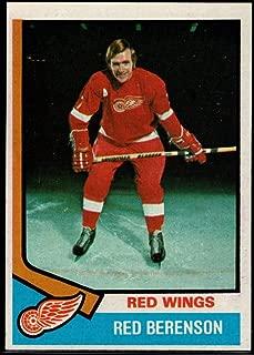 Hockey NHL 1974-75 Topps #19 Red Berenson Red Wings