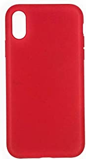 QBS: iPhone Xs and X Case, Natural & Eco-Friendly, Soil Biodegradable Plastic, Made from Wheat Straw (Red)