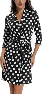 MISS MOLY Summer Dresses for Women Polka Dots Crossover V-Neck Sleeveless Above Knee Wrap Dress