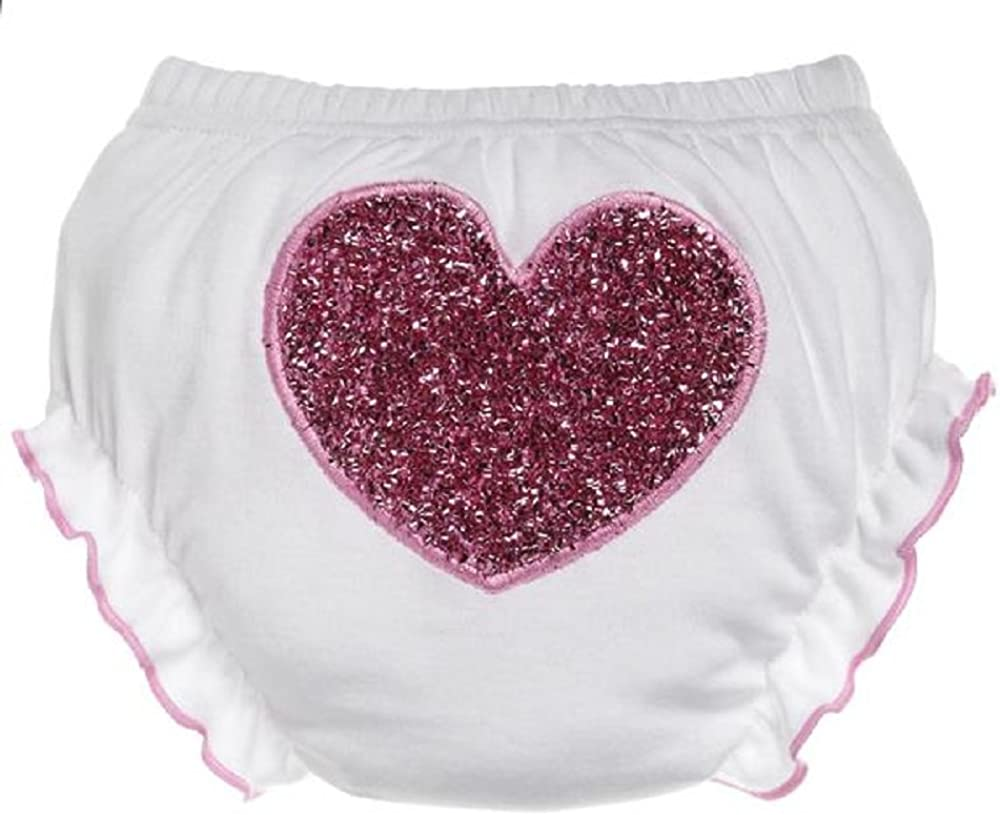 Ganz Baby Miami Mall Girl First Max 65% OFF Valentine's Day Bloomers Seqin Wh Red Heart