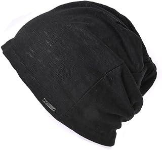 Casualbox Charm Mens Summer Linen Beanie - Slouchy Lightweight Knit Hat Slouch Cap