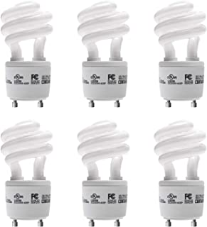 Gu24 CFL Light Bulbs JACKYLED 4-Pack UL T3 Spiral 13w 120v 900lm White 2700k