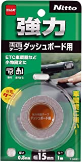 ニトムズ 強力両面テープ ダッシュボード用 15mm×1m T3431