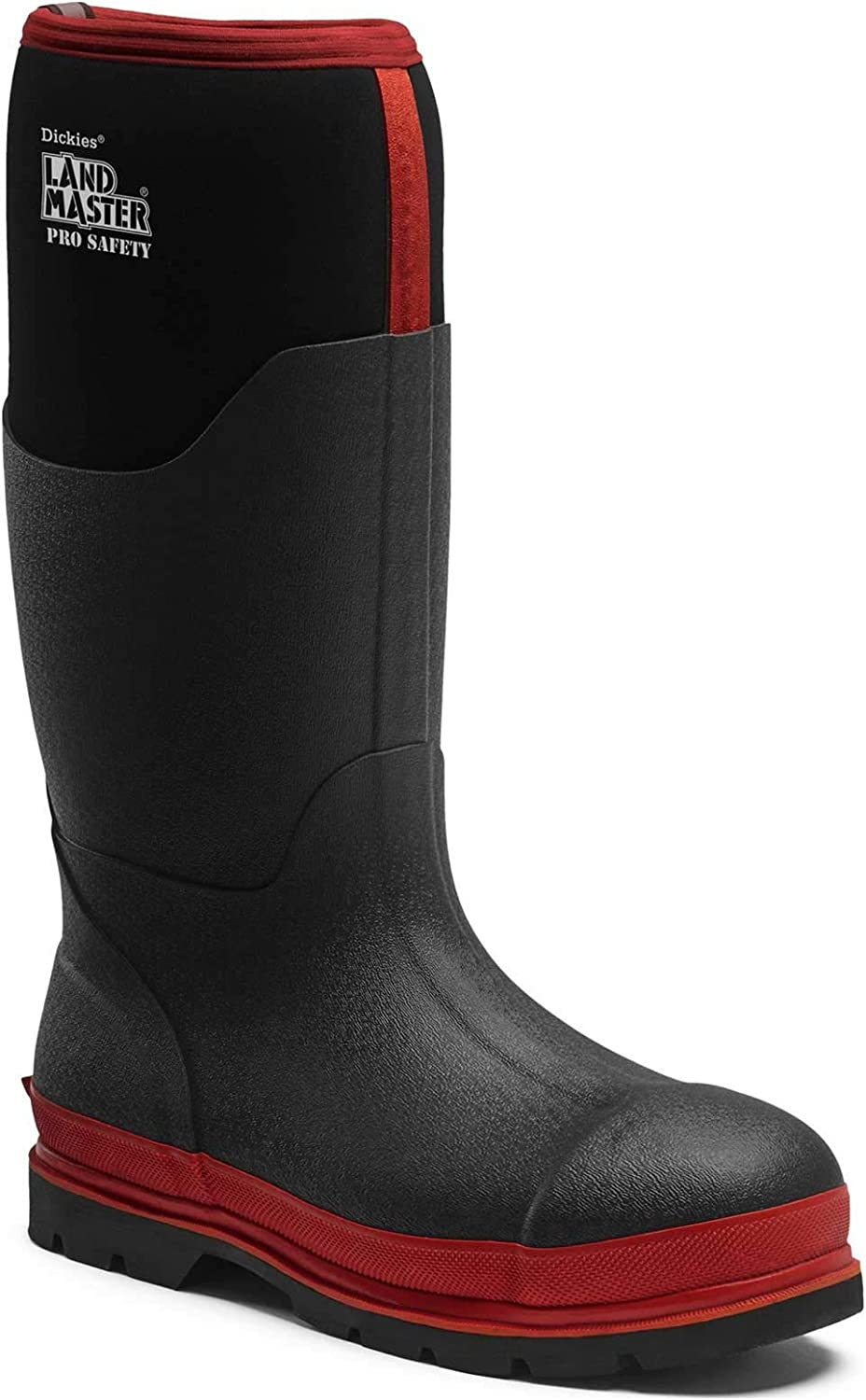 Dickies Landmaster Pro Safety Wellington Boots Black Red Size 12