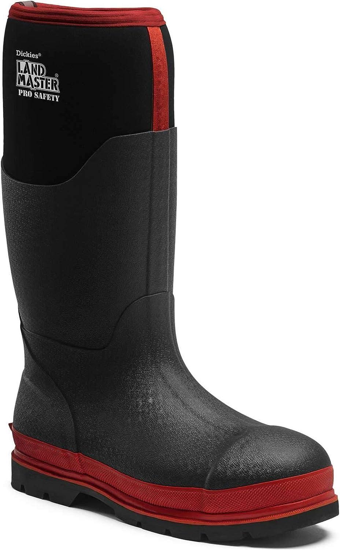 Dickies Landmaster för säkerhet Wellington stövlar svart    röd Storlek 12  billigt och mode