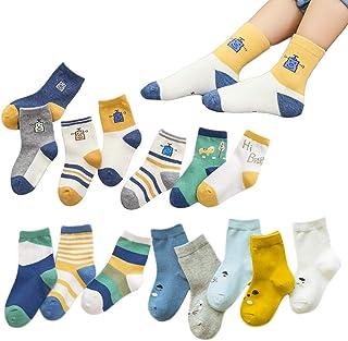 XM-Amigo, 15 pares calcetines niños novedad colorido algodón robot algodón tripulación calcetines