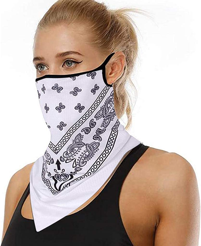 COZOCO Protección Facial, en stock, Reutilizable a prueba de polvo lavable Mascarilla de algodón con bucles para los oídos Bufanda deportiva Tubo para el cuello antipolvo para la cara