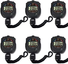 Pgzsy 6 Pack Multi-Function Electronic Digital Sport Stopwatch Timer, Large Display with..