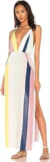 Indah River Hand Painted Maxi Dress Tropical Stripe