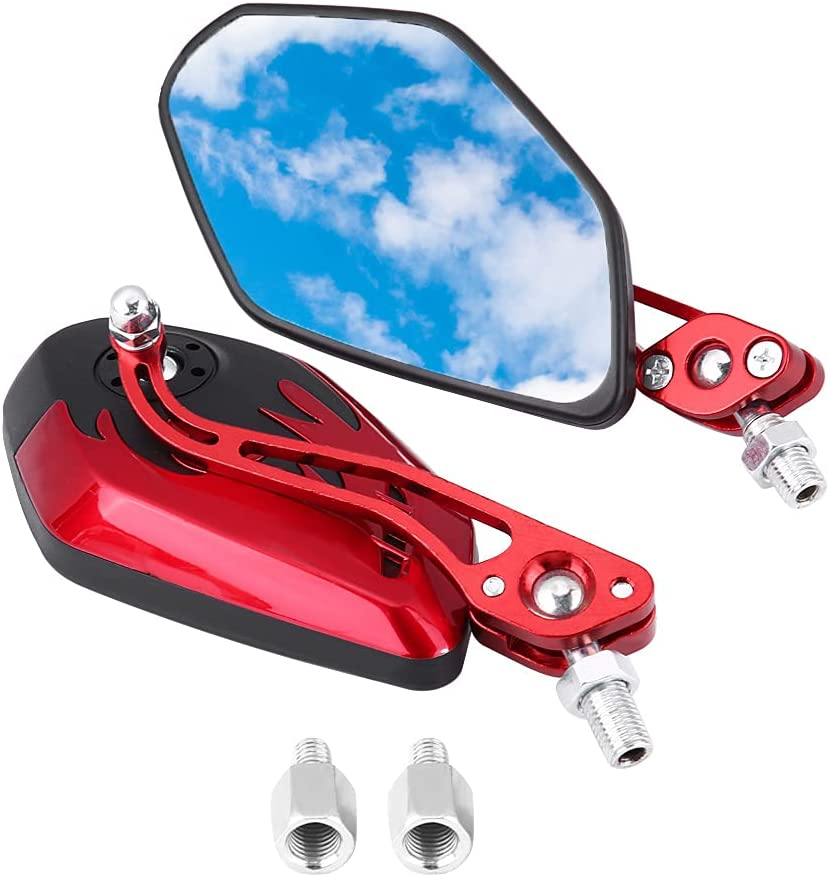 Online limited product Qiilu Replacement Motorcycle Rearview Mirror Pair 1 S Universal Discount mail order