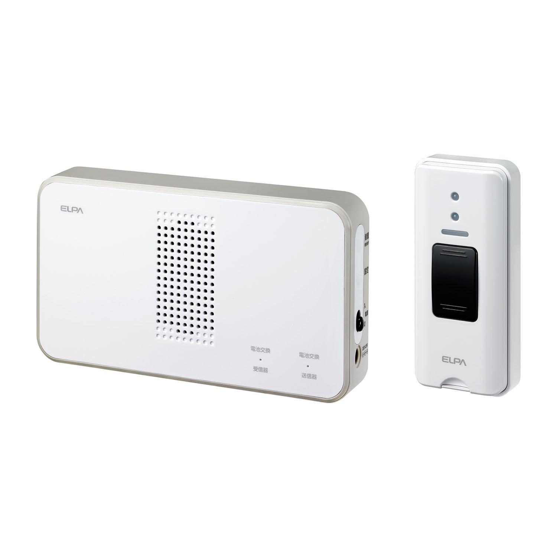 ELPA ワイヤレスチャイム押しボタンセット ホワイト 21×22.5×3cm EWS-S5030