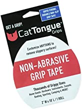 CatTongue Non Abrasive Grip Tape - Customize Anything to Remove Slippery Surfaces - Thousands of Grippy Uses: Home Goods, Hardware, Carpets and More!