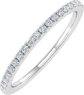 14K Gold Half Eternity Diamond Wedding Band Ring for Women (0.15 Carat)