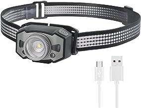 Hoofd fakkel LED Motion IR Sensor Mini Koplamp XP-G2+2 * 3030 Rood Licht 5-Mode Zoom Koplamp Oplaadbare Hoofd Torch Jacht ...