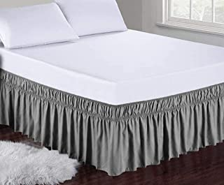 Obytex Wrap Around Bed Skirts Fashional Elastic Dust...