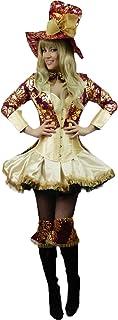 Yummy Bee Disfraz de Cuento de Sombrerero de la Fiesta del Té Divinamente Seductor Mad Hatter Fiesta de Disfraces Mujer Alicia Maravillas Talla Grande 34 - 48 (Mujer: 36-38)