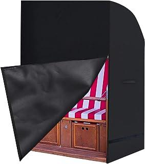 Landrip Funda Protectora para Sillón de Playa,Funda Protectora de poliéster 420D Oxford para sillas de jardín,Cubierta Protectora Impermeable para la Silla de Playa de Mimbre,140/175 x 135 x 105CM
