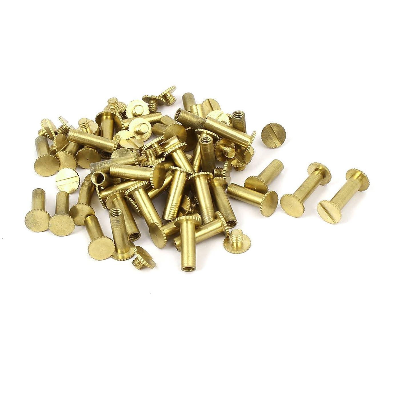 uxcell Photo Albums Scrapbook M5x15mm Brass Slotted Knurling Binding Screw Post 50pcs vuf6988868