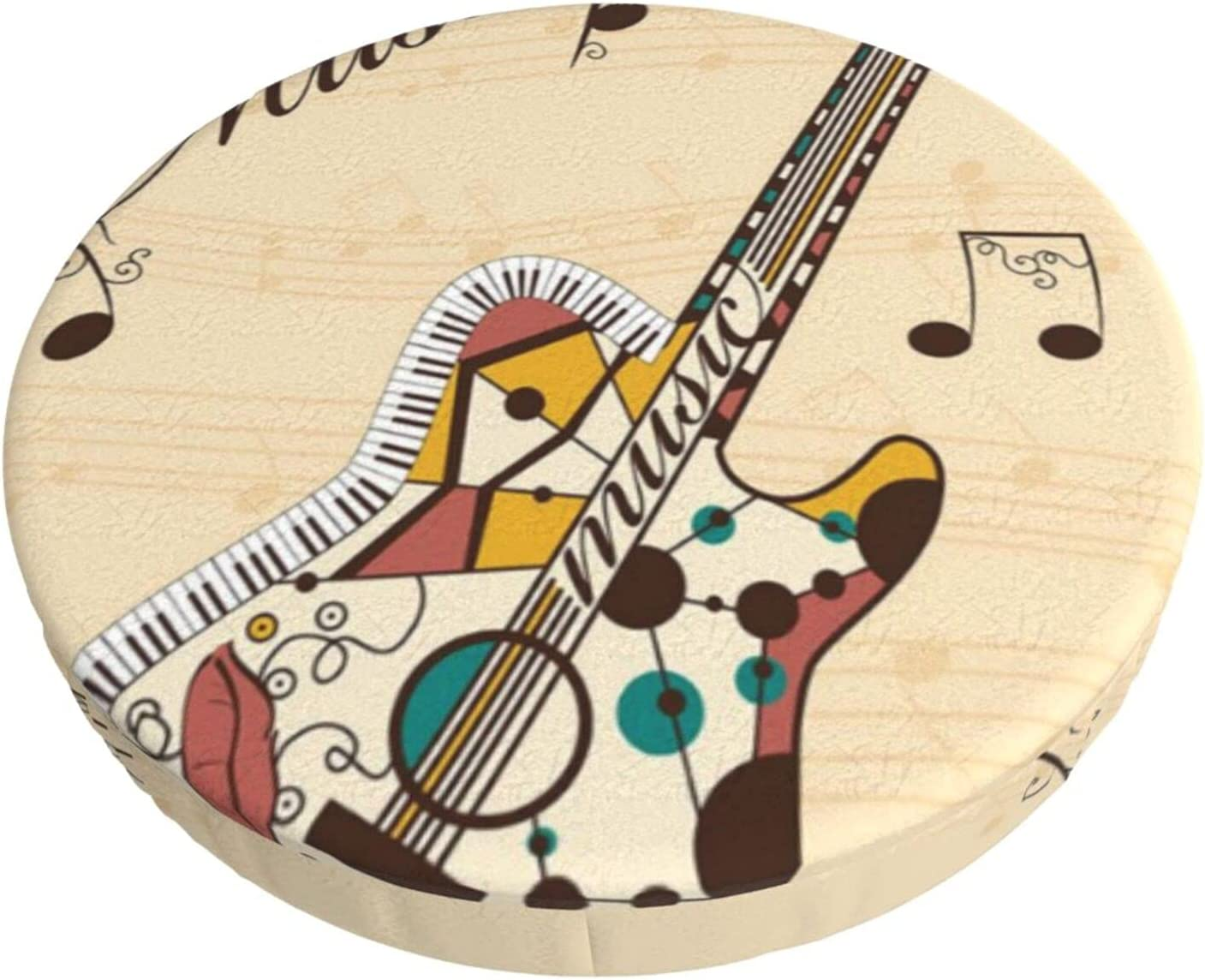Abstract Funky Guitar Musical Notes Club Lounge Round Ranking 55% OFF TOP13 Stool Bar