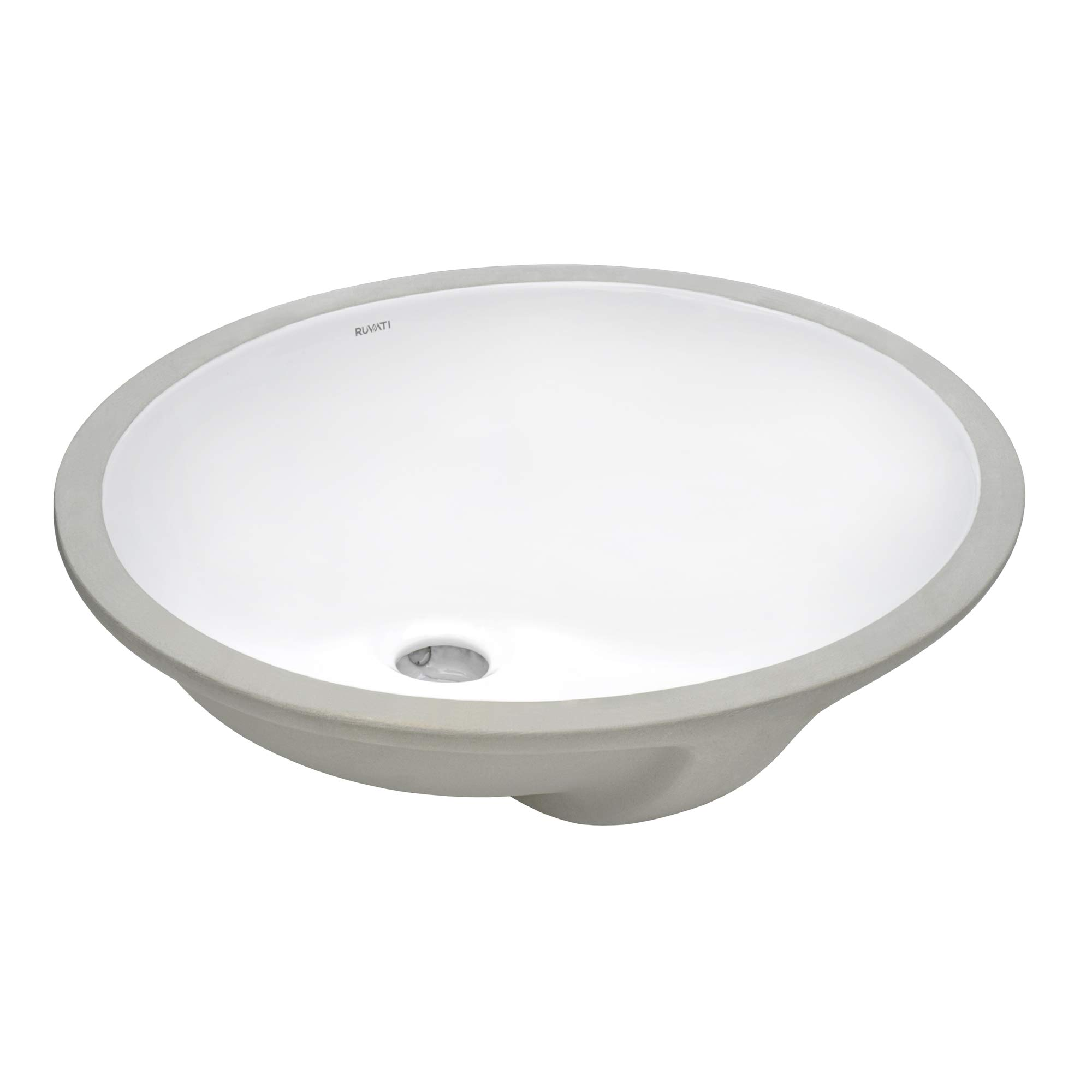 Ruvati 16 X 13 Inch Undermount Bathroom Vanity Sink White Oval Porcelain Ceramic With Overflow Rvb0616 Amazon Com