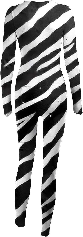 BUKINIE Onesies for Women Leopard Zebra Animals Print Button-Down Front Onesie Jumpsuit Pyjamas Functional Butt Button Flap One Piece Rompers Long Sleeve Adults Bodycon Playsuit Sleepwear PJS