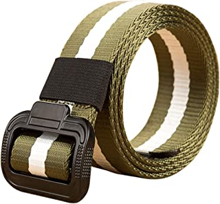 Aiweijia men military belts military style waist belt casual outdoor breathable adjustable popular man woven belt trouser belt with alloy buckle
