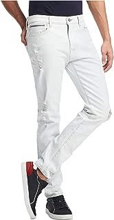 Mens 33X30 Slim-Fit Stretch Bleached Jeans