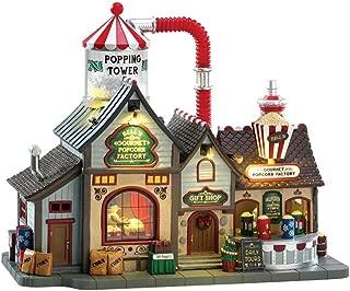 Lemax 75188 Bell's Gourmet Popcorn Factory, Caddington Village Sights & Sounds Collection, Porcelain Polyresin Blend Miniature Building, X'mas Decor/Gift/Collectible, Volume Control, 9.53x11.65x5.91