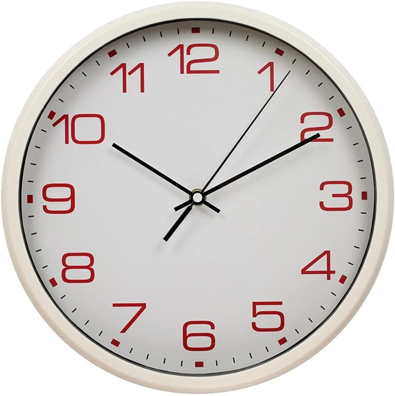 Aoligei Dormitorio Moderno Decorado Bell Luna Reloj Mudo Reloj de Parojo Digital 20 Pulgadas El Reloj de Parojo Perfecto para una Oficina, salón de Clases, Dormitorio o bao